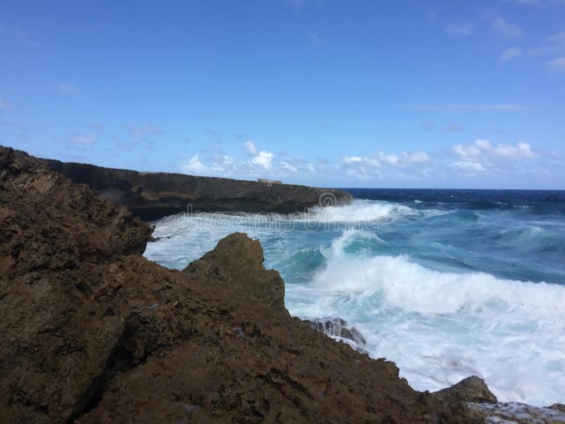 Costa de Aruba imagem de stock
