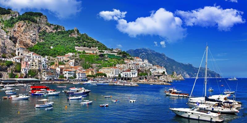 Costa de Bella Italia - de Amalfi fotografía de archivo libre de regalías
