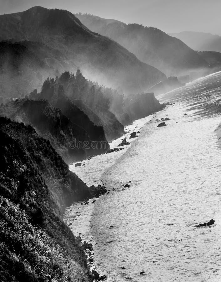 Costa costa de Big Sur imagenes de archivo