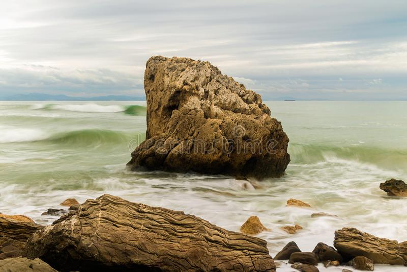 Costa de Bolonia, praia de Tarifa foto de stock royalty free