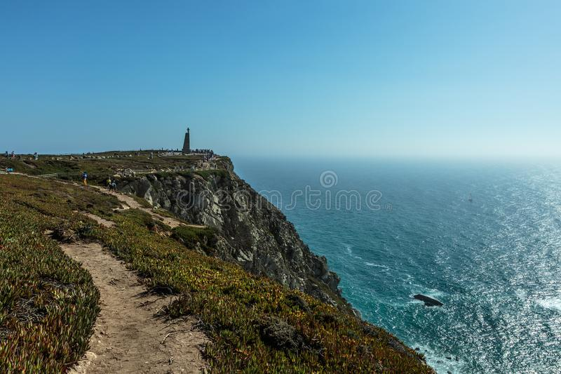 Costa costa de Cabo DA Roca, el punto occidental de Europa, Portugal fotos de archivo
