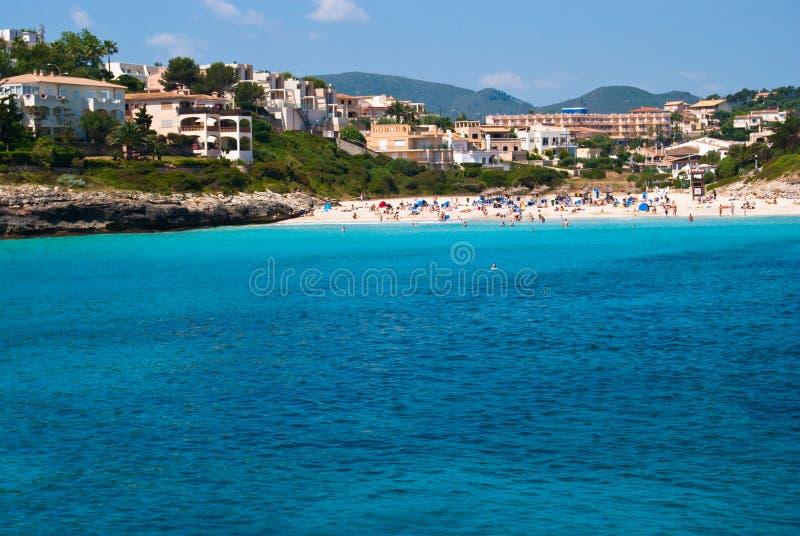Costa de Cala Romantica e hotéis, Majorca, Spain imagens de stock