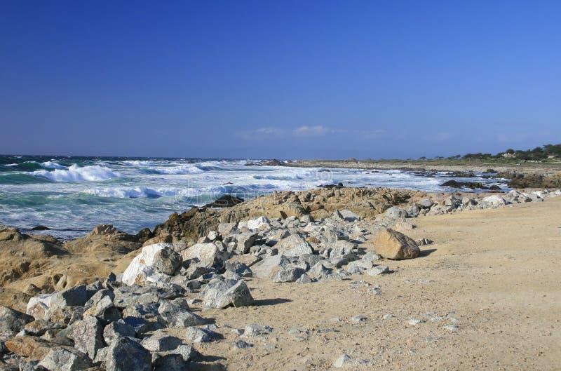 Costa de Califórnia, Monterey imagem de stock royalty free