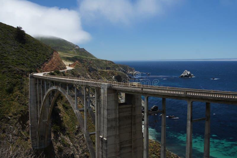 Costa de California del puente de Bixby fotos de archivo