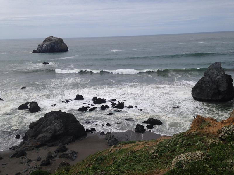Costa de California septentrional fotos de archivo