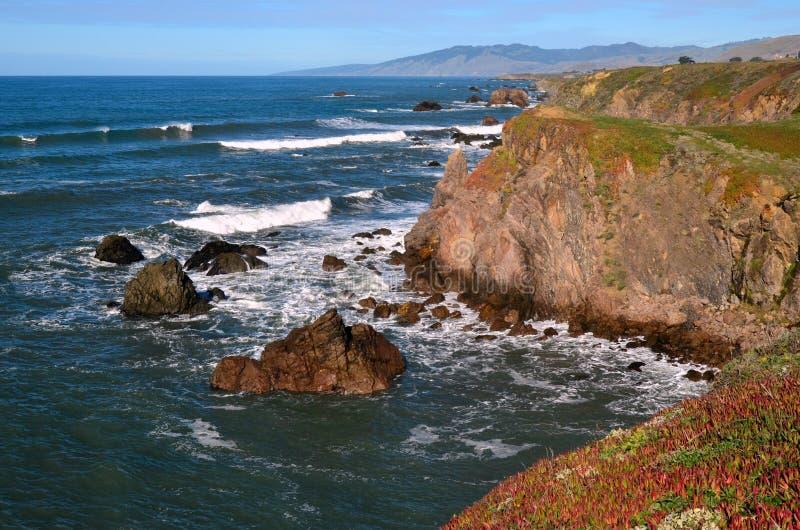 Costa de California septentrional del día soleado imagen de archivo libre de regalías