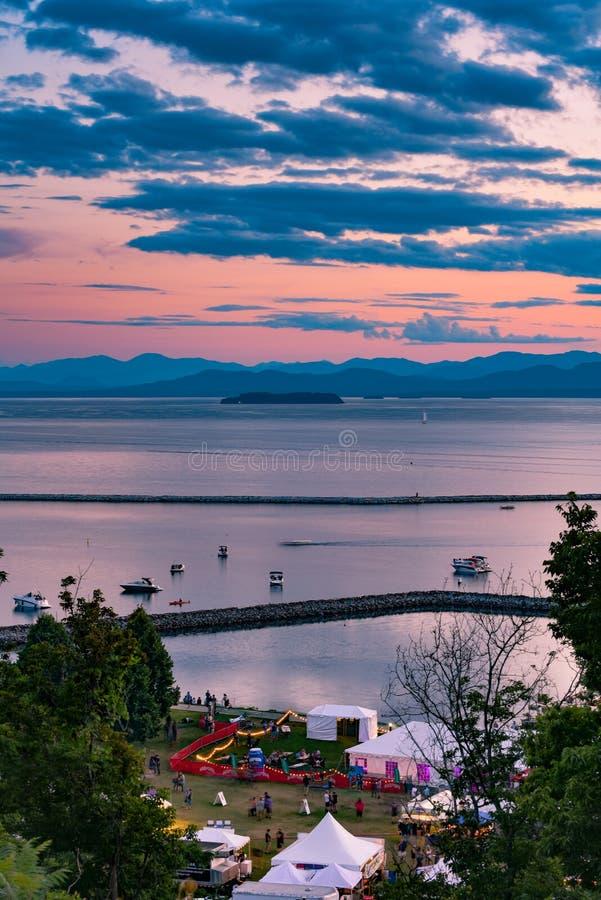 Costa de Champlain del lago imagen de archivo libre de regalías