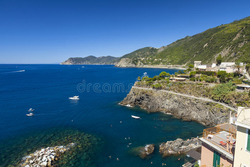 Costa de Cinque Terre imagen de archivo libre de regalías