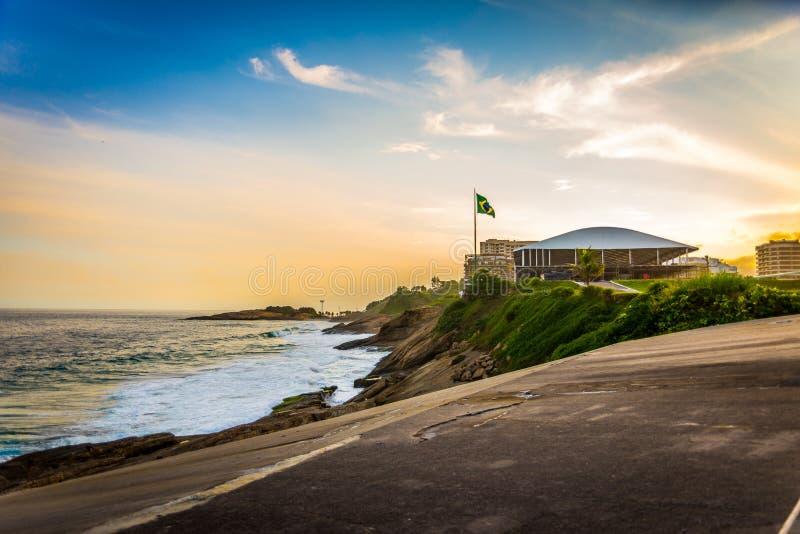 Costa de Copacabana do forte imagem de stock royalty free