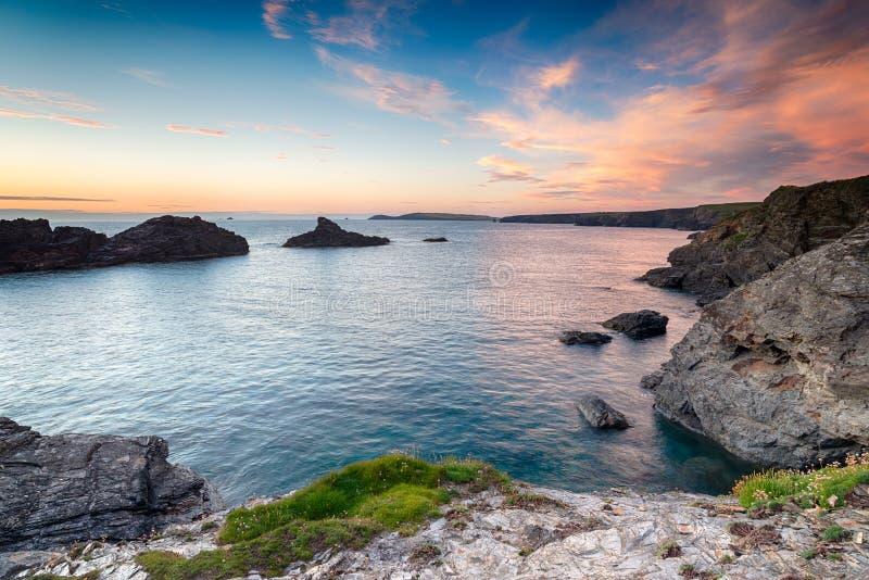 Costa de Cornualha imagem de stock royalty free