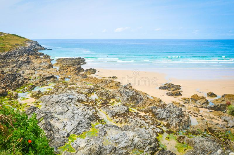 Costa de Cornualles fotos de archivo libres de regalías