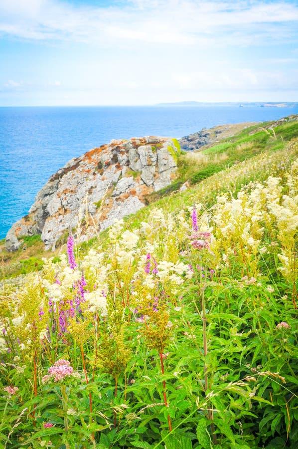 Costa de Cornualles en St Ives, Inglaterra foto de archivo libre de regalías