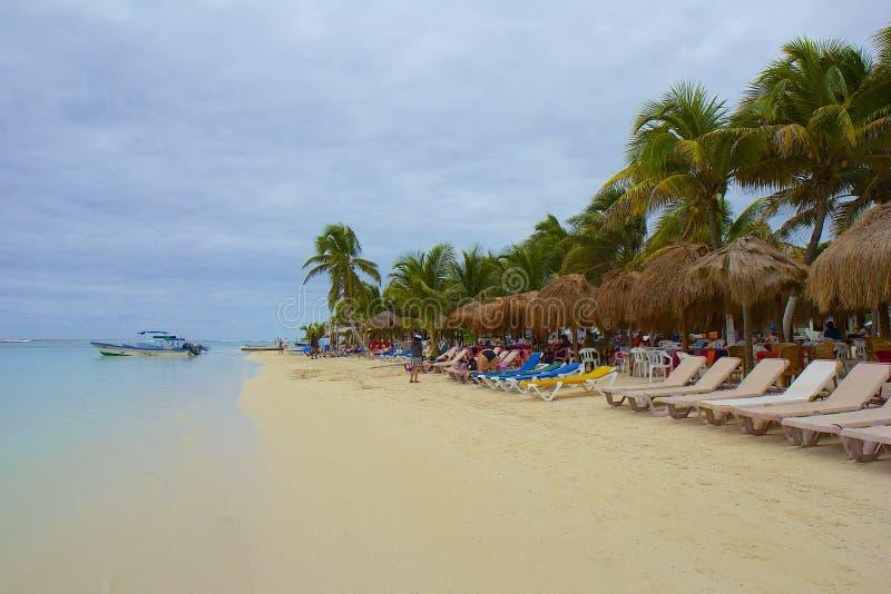 Costa de Costa Maya, México, del Caribe imagen de archivo libre de regalías