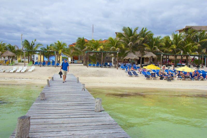 Costa de Costa Maya, México, del Caribe fotografía de archivo