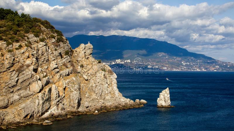 Costa de Crimea, Yalta, el Mar Negro foto de archivo