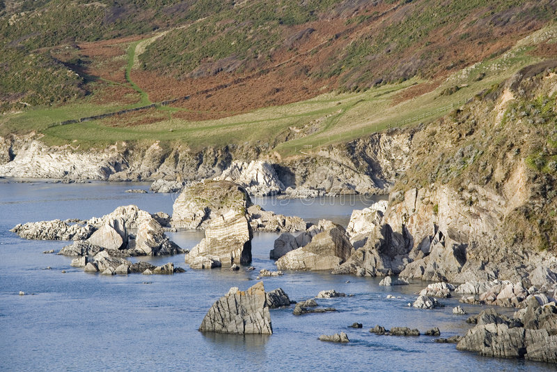 Costa de Devon fotos de stock