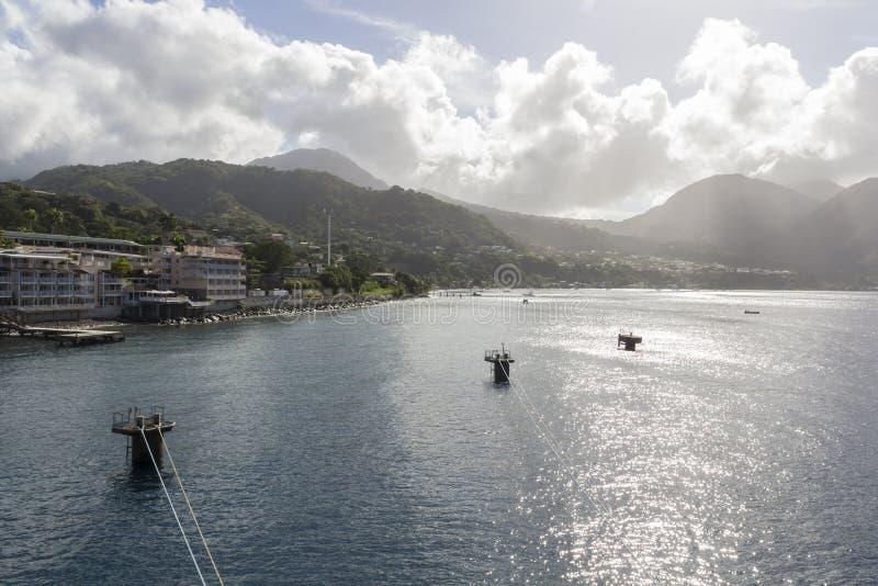 Costa de Domínica imagem de stock