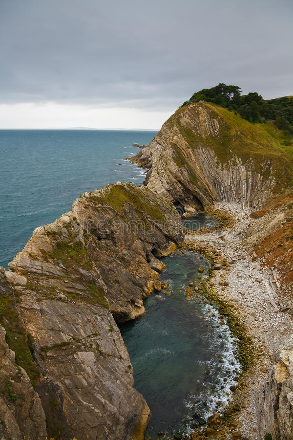 Costa de Dorset, Reino Unido imagens de stock