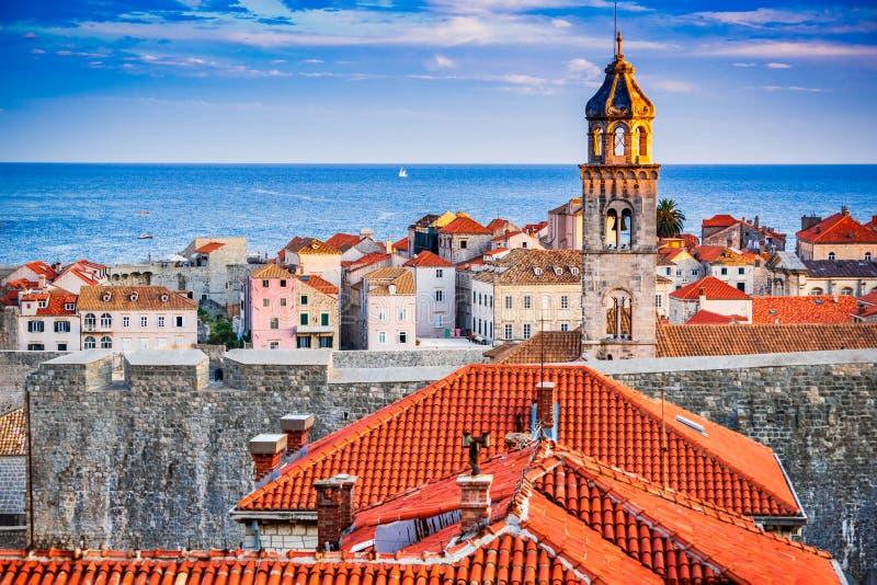 Costa de Dubrovnik, Croacia - de Dalmacia, fotos de archivo