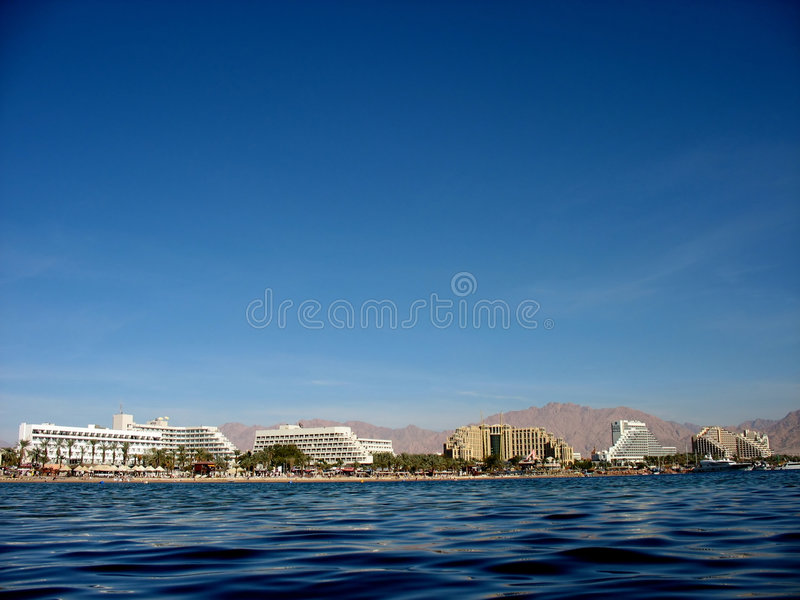 Costa de Eilat imagem de stock