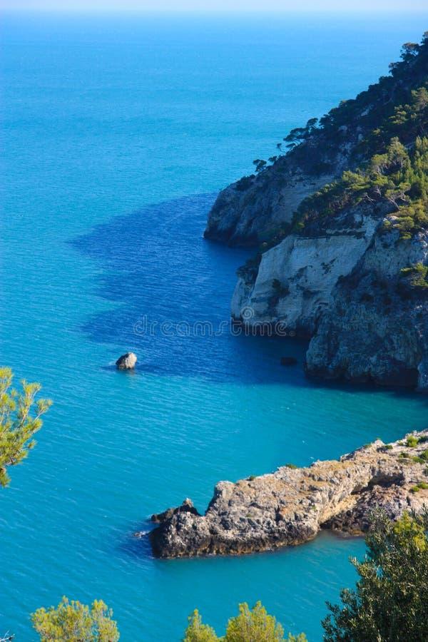 Costa de Gargano, Apulia, Italy imagem de stock royalty free
