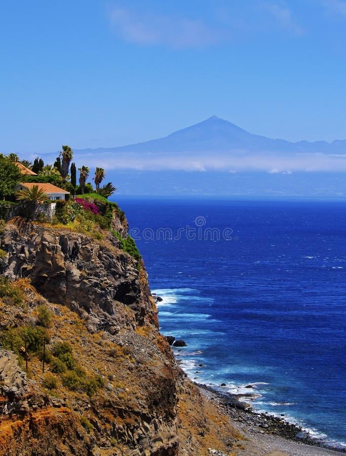 Costa de Gomera imagens de stock