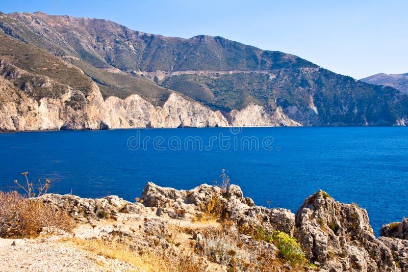 Costa de Kefalonia, Grecia imagenes de archivo