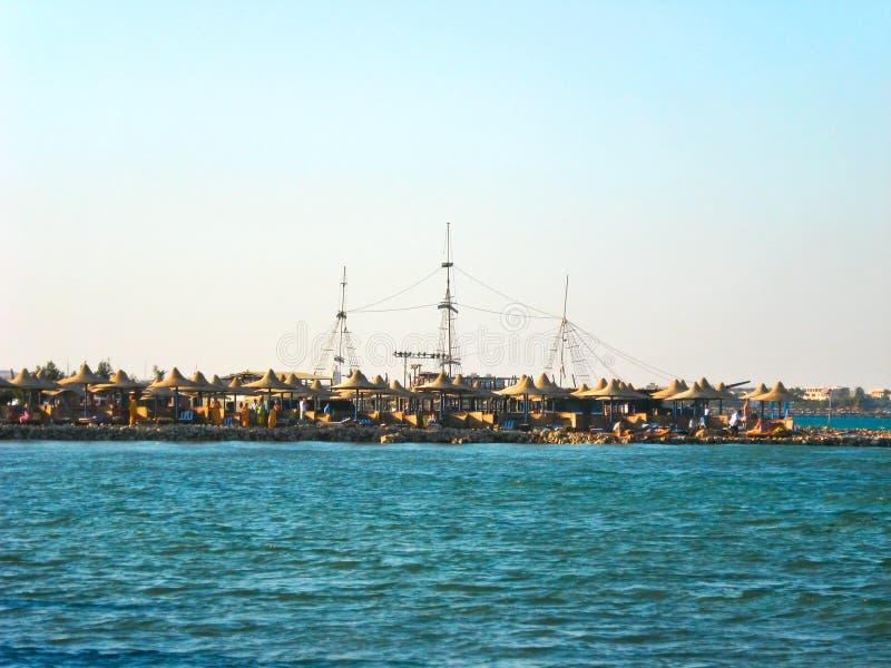 Costa de la bahía de Makadi fotografía de archivo libre de regalías
