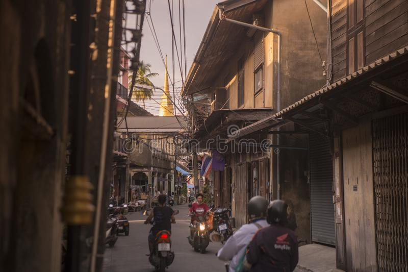 COSTA DE LA CIUDAD DE TAILANDIA CHANTHABURI imagenes de archivo