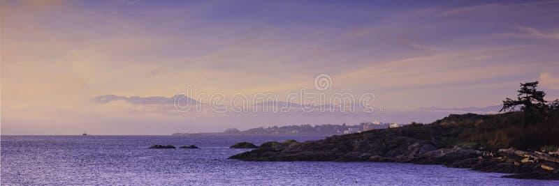Costa costa de la Columbia Británica imagen de archivo