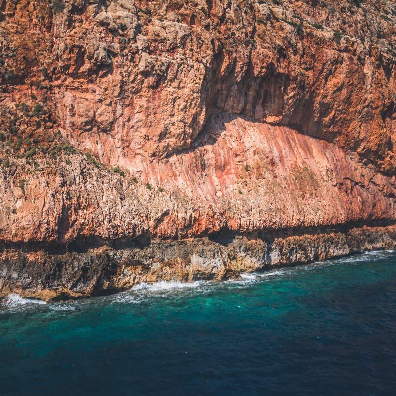 Costa costa de la parte occidental de Creta imagen de archivo