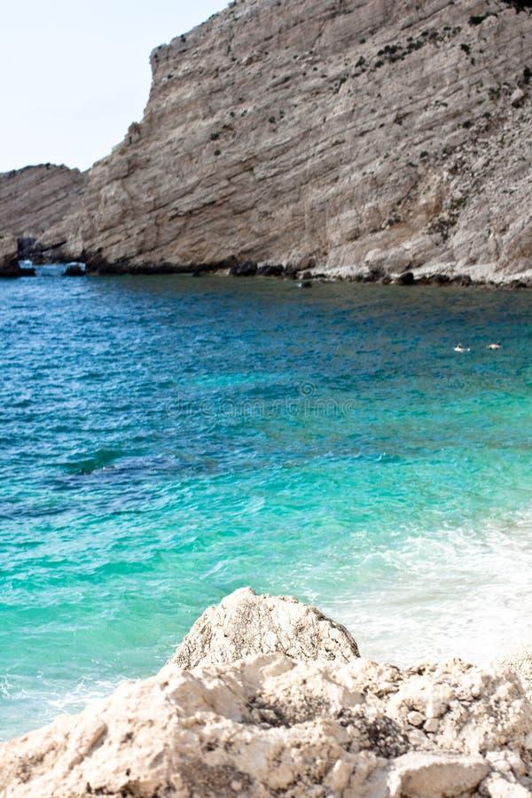 Costa de la playa de Petani fotografía de archivo libre de regalías