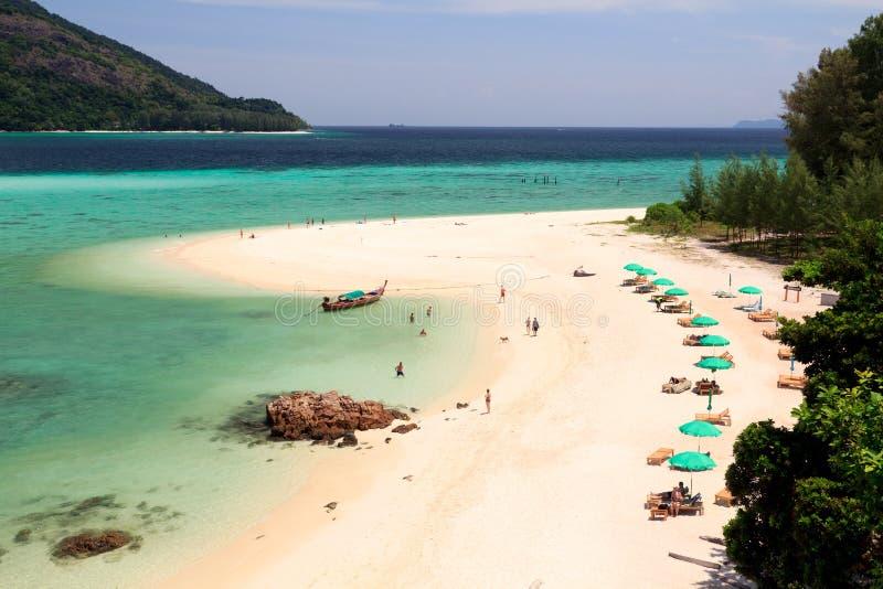 Costa de la playa de Tailandia de Andaman imágenes de archivo libres de regalías