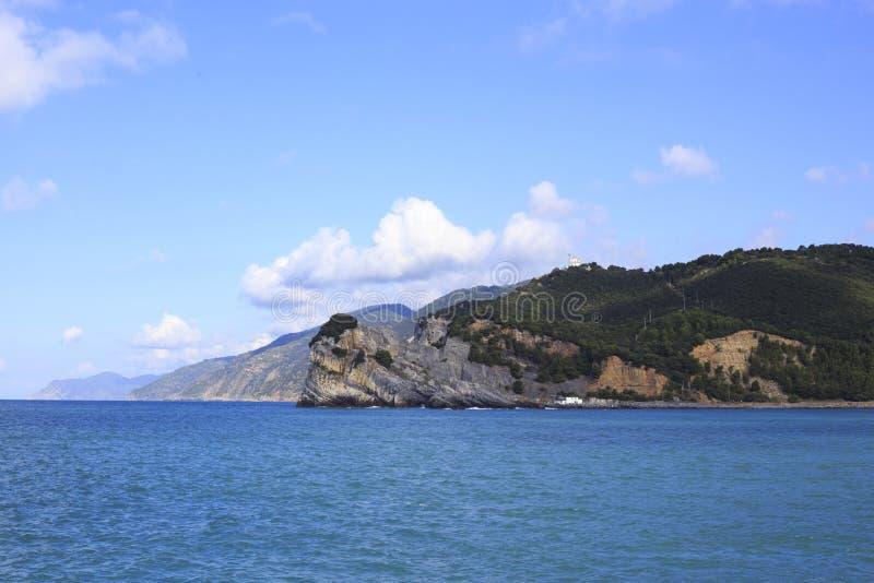 Costa de la provincia de Spezia del La en Liguria imagen de archivo libre de regalías