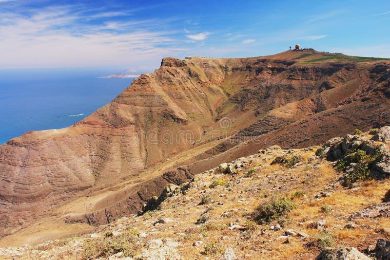 Costa de Lanzarote fotografia de stock royalty free