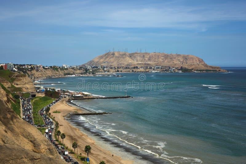Costa de Lima, Peru foto de stock