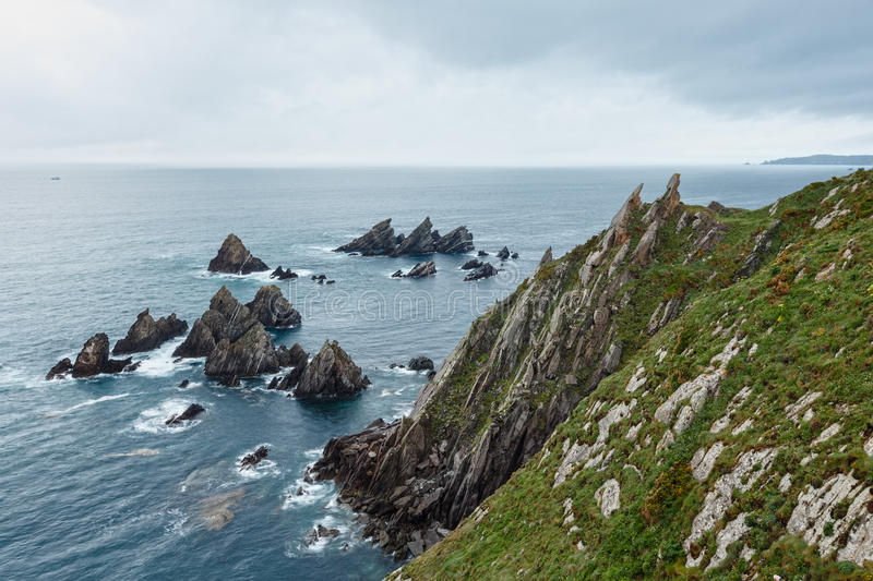 Costa de Loiba Asturias, España foto de archivo