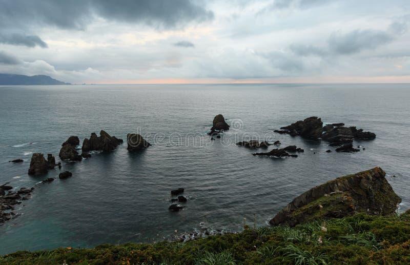 Costa de Loiba Asturias, España imagenes de archivo