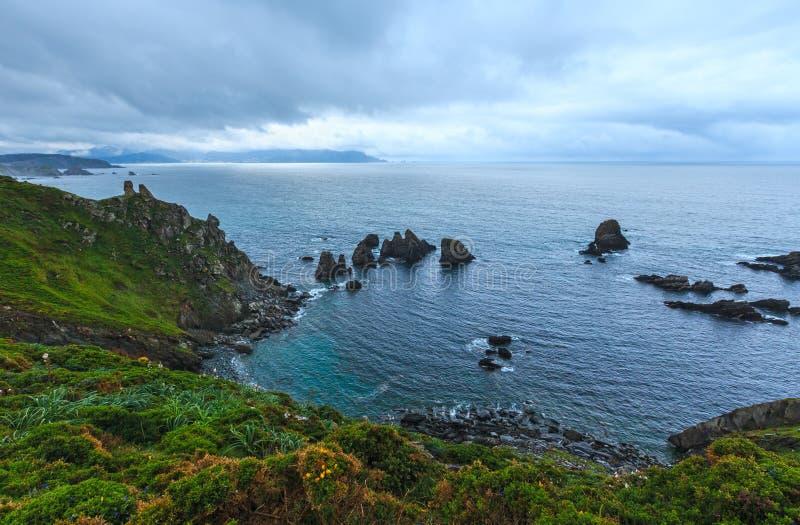 Costa de Loiba Asturias Spanien royaltyfria bilder