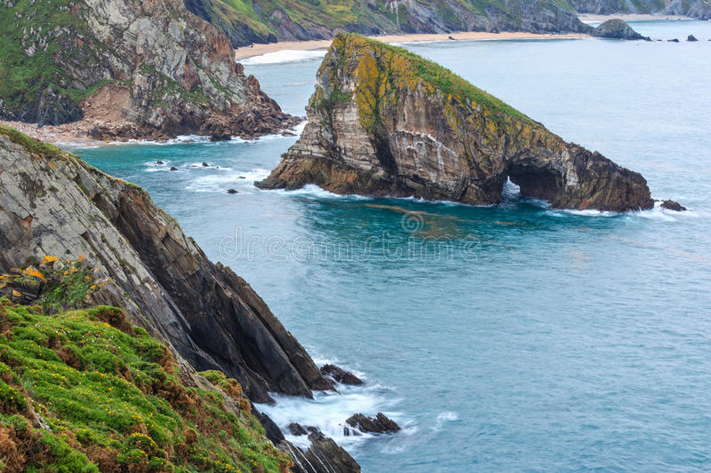 Costa de Loiba Asturias, Spanje stock foto