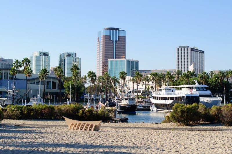 Costa de Long Beach en la zona metropolitana de Los Ángeles imagenes de archivo