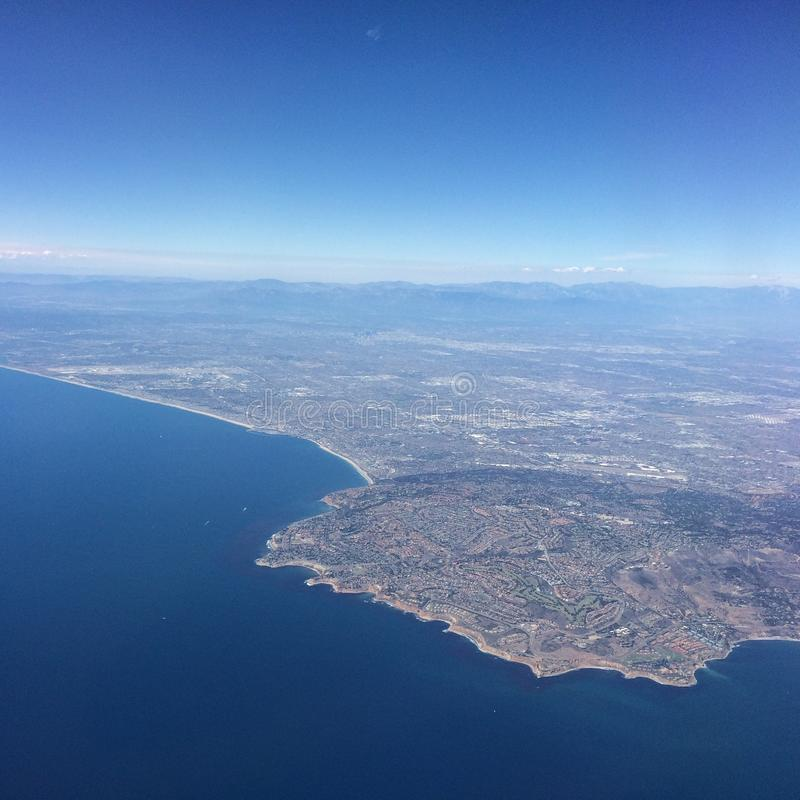 Costa de Los Ángeles imagen de archivo
