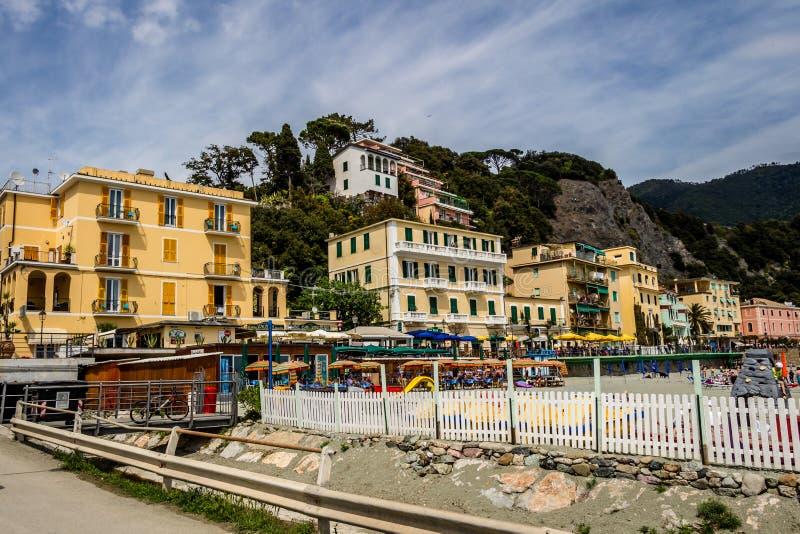 Costa de mar, égua do al de Monterosso, Cinque Terre, Itália foto de stock