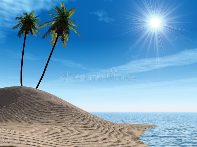 Costa de mar stock de ilustración