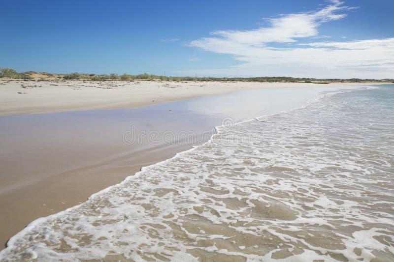 Costa de mar australiana da praia da onda do verão de Ningaloo bonita imagens de stock