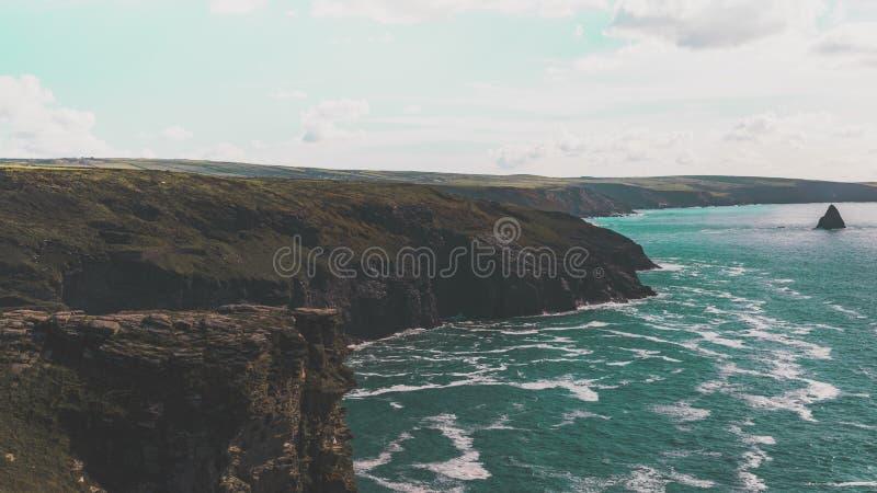 Costa de mar Cornualles fotos de archivo