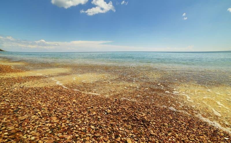 Costa de mar da praia foto de stock