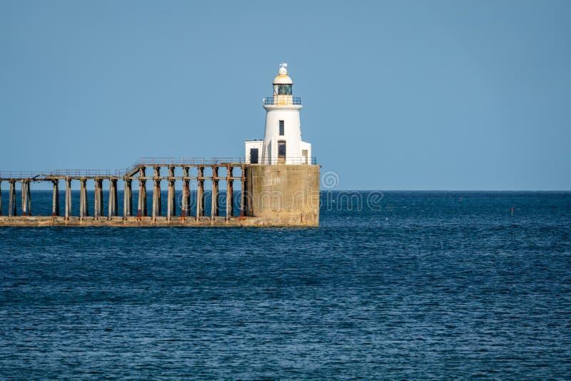 Costa de Mar del Norte en la playa del sur en Blyth, Inglaterra, Reino Unido imagenes de archivo