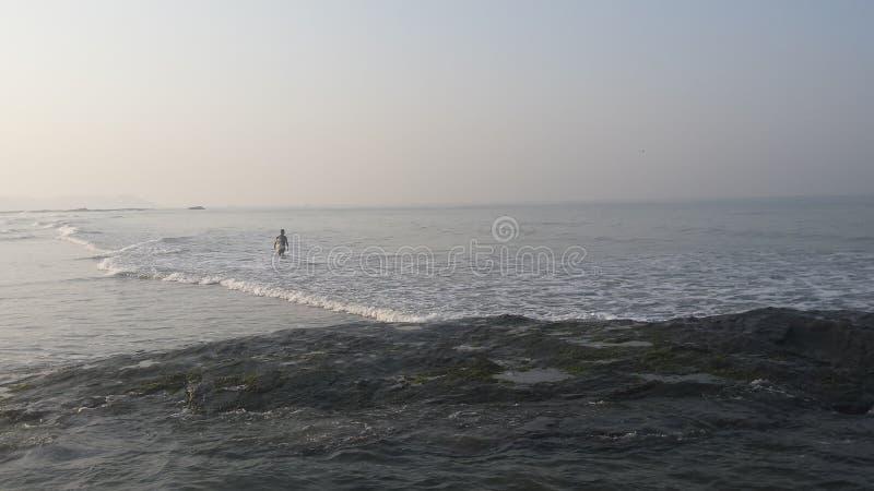A costa de mar do abowe na manhã foto de stock royalty free
