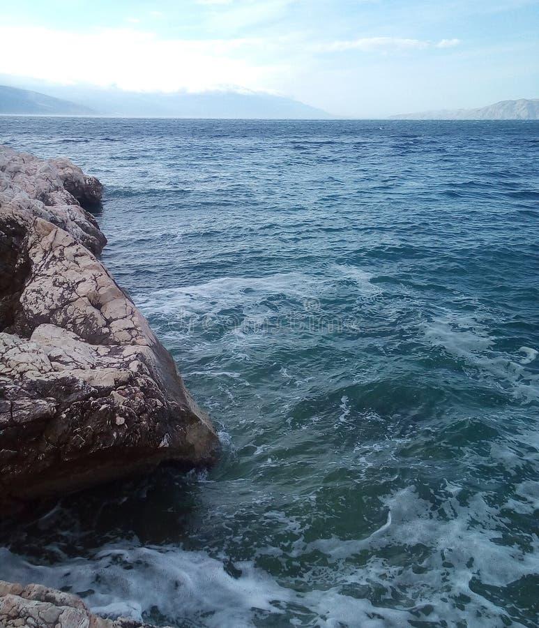 Costa de mar do adriático fotos de stock royalty free